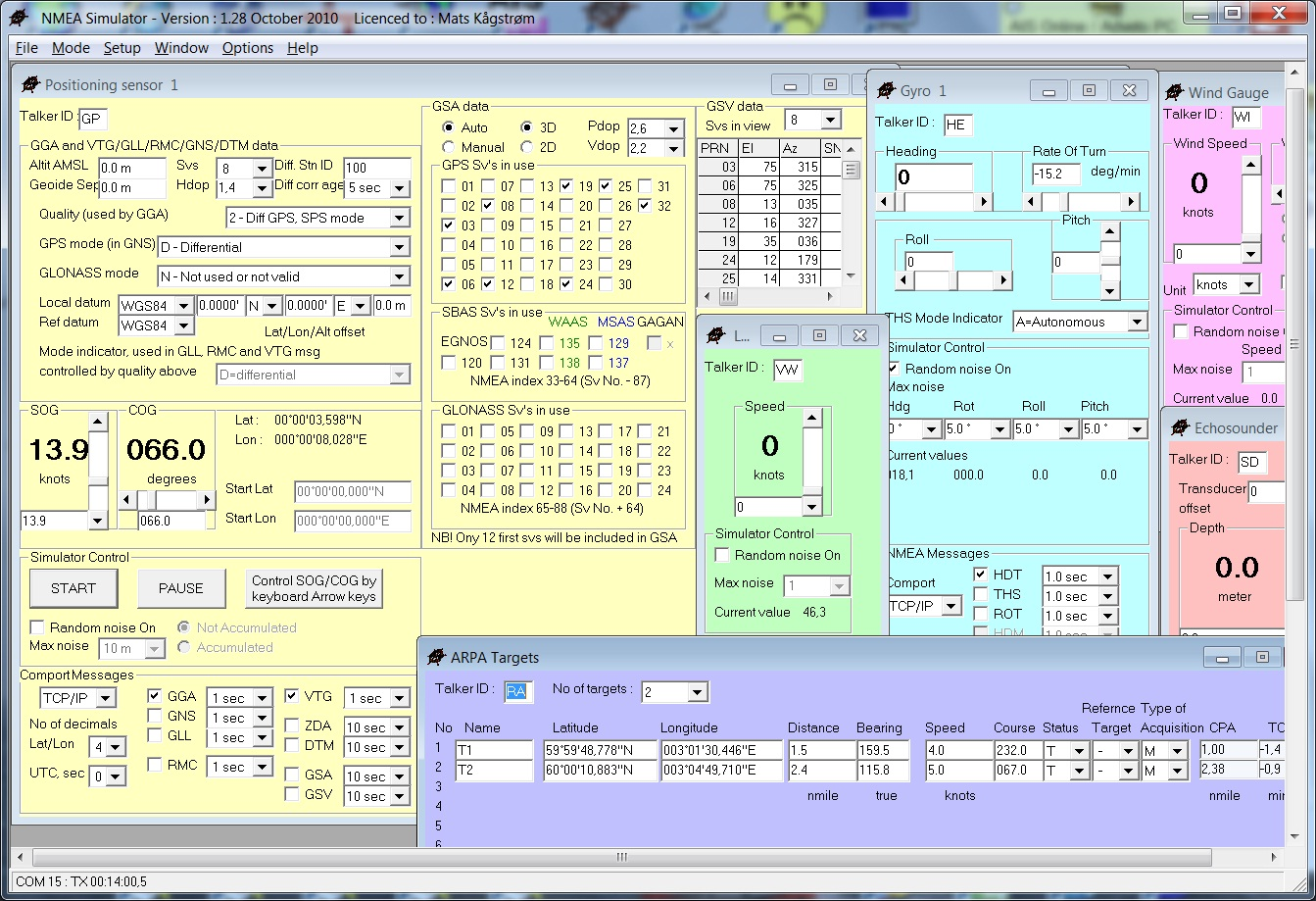 Multiplexers yachting software.